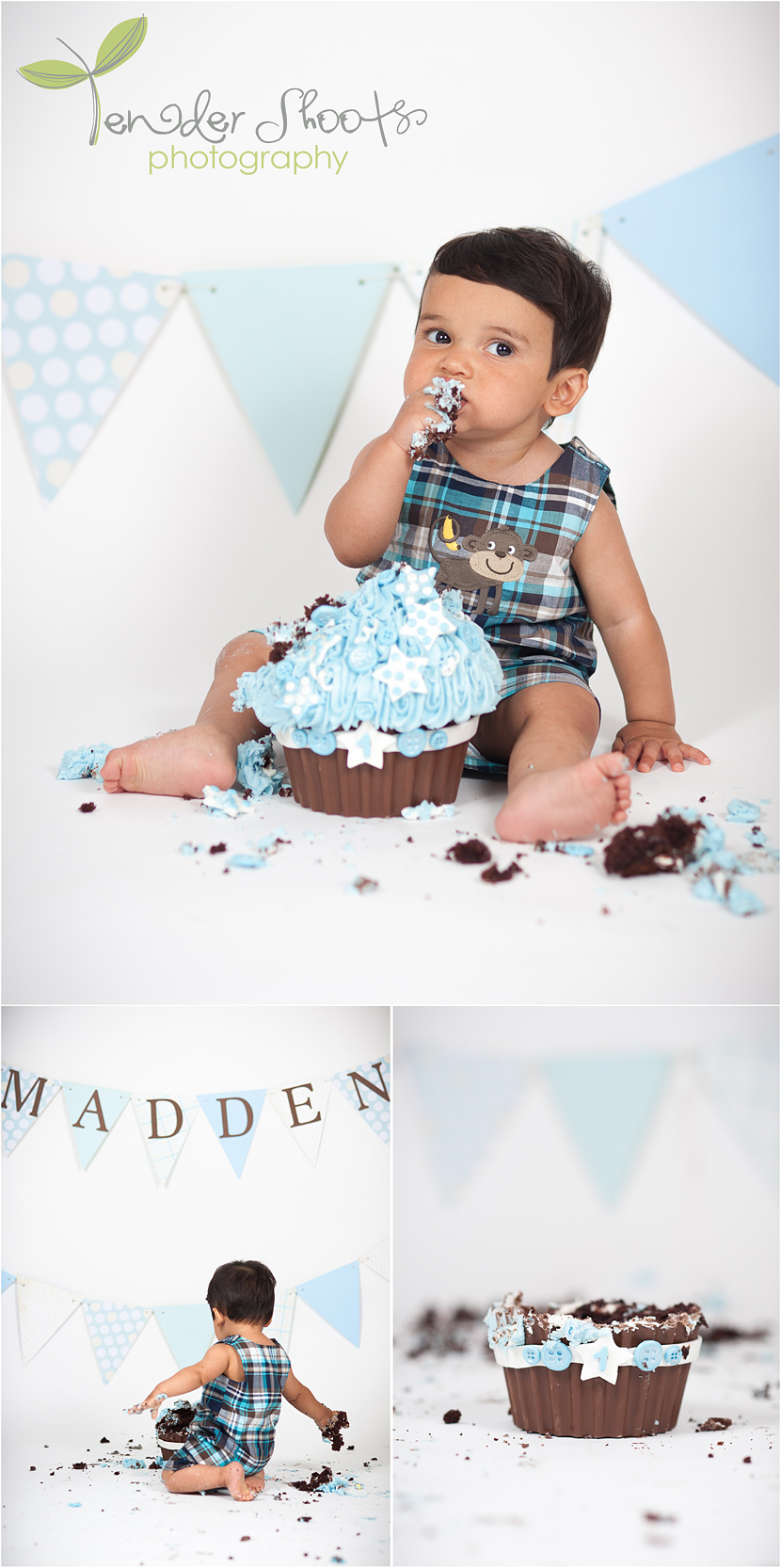 Madden's 1st Birthday cake smash