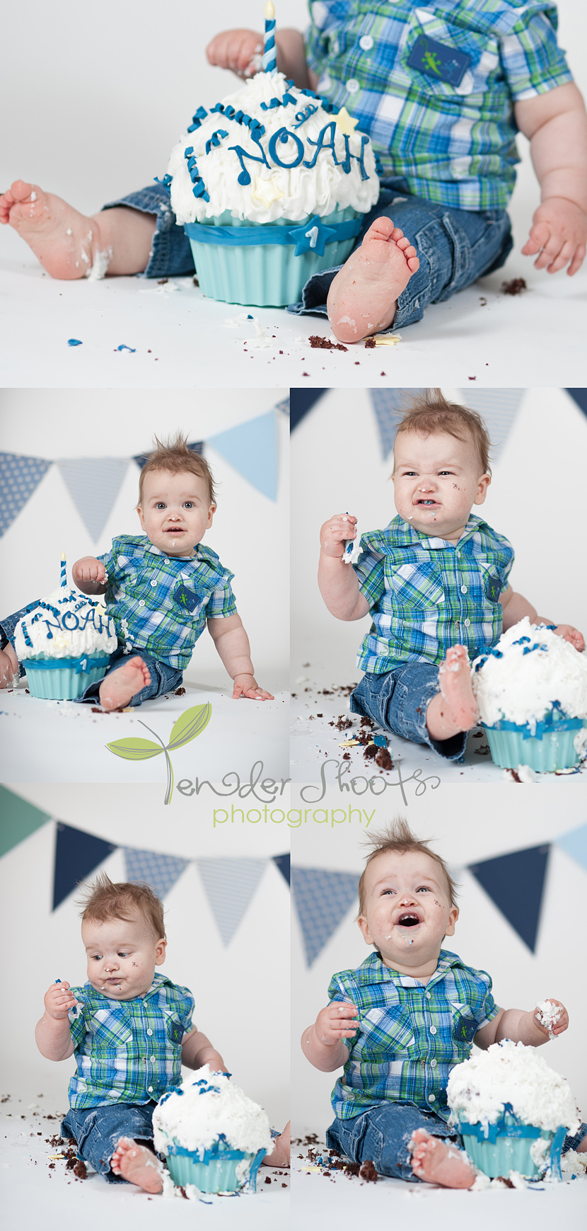 Cake smash by Tender Shoots Photography