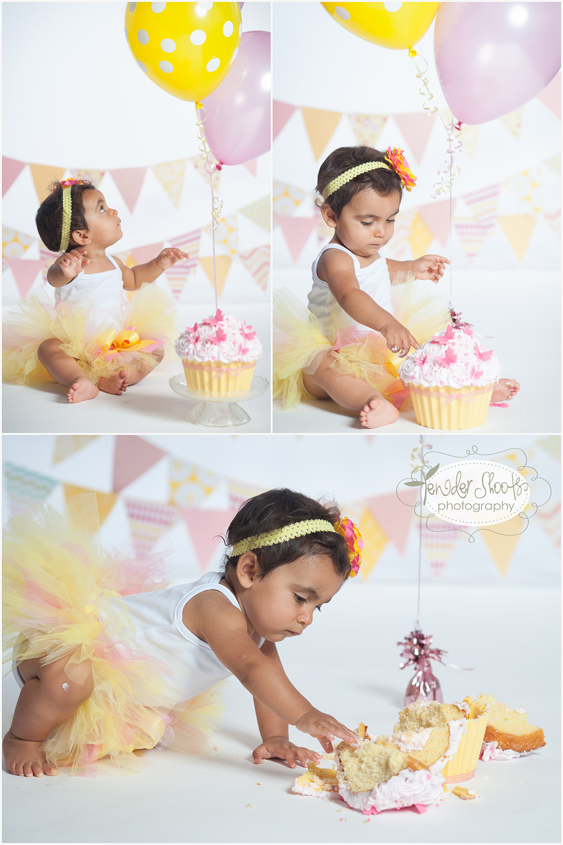 Tender Shoots Cake Smash Photography